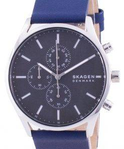 Skagen Holst Chronograph Leather Strap Quartz SKW6653 Mens Watch