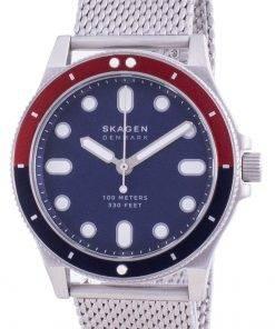 Skagen Fisk Blue Dial Stainless Steel Quartz SKW6668 100M Mens Watch