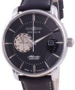 Zeppelin Atlantic Black Dial Automatic 8470-2 84702 Mens Watch