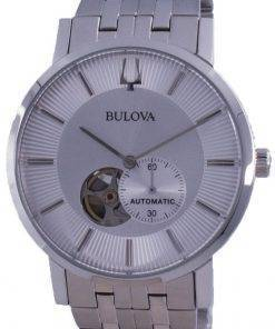 Bulova Clipper Open Heart Dial Automatic 96A238 Mens Watch