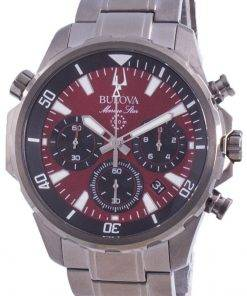 Bulova Marine Star Chronograph Quartz 98B350 100M Mens Watch