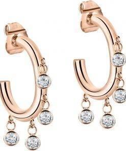 Morellato Cerchi Rose Gold Tone Stainless Steel SAKM54 Womens Earring