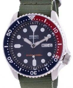 Seiko Automatic Divers Deep Blue SKX009K1-var-NATO9 200M Mens Watch