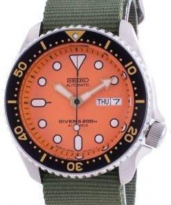 Seiko Automatic Divers SKX011J1-var-NATO9 200M Japan Made Mens Watch