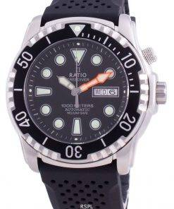 Ratio FreeDiver Helium-Safe 1000M Sapphire Automatic 1068HA90-34VA-BLK Men's Watch