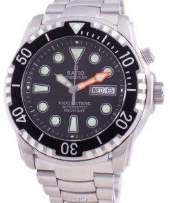 Ratio FreeDiver Helium-Safe 1000M Sapphire Automatic 1068HA96-34VA-BLK Men's Watch