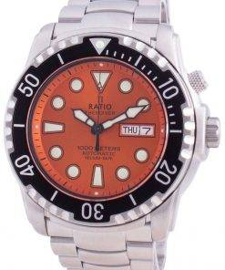 Ratio FreeDiver Helium-Safe 1000M Sapphire Automatic 1068HA96-34VA-ORG Men's Watch