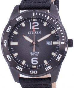 Citizen Black Dial Nylon Strap Quartz BI1045-05E 100M Mens Watch