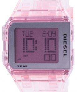 Diesel Chopped Millennial Pink Transparent Quartz DZ1920 Unisex Watch