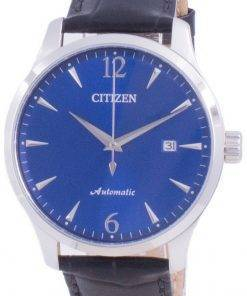 Citizen Blue Dial Calf Leather Strap Mechanical NJ0110-18L Mens Watch
