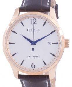 Citizen Silver Dial Calf Leather Strap Mechanical NJ0113-10A Mens Watch