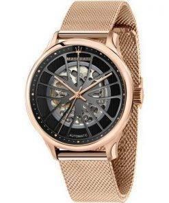 Maserati Gentleman Skeleton Dial Automatic R8823136001 100M Mens Watch