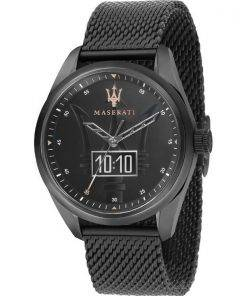 Maserati Traguardo Black Dial Quartz R8853112001 100M Mens Watch