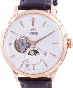 Orient Sun  Moon Phase Open Heart Dial Automatic RA-AS0102S10B Mens Watch