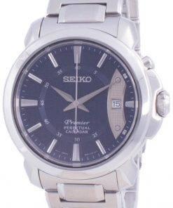 Seiko Premier Perpetual Calendar Quartz SNQ157 SNQ157P1 SNQ157P 100M Mens Watch