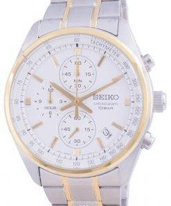 Seiko Chronograph Quartz SSB380 SSB380P1 SSB380P 100M Mens Watch