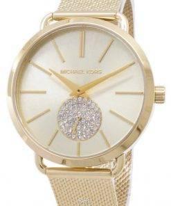 Refurbished Michael Kors Portia Quartz Diamond Accent MK3844 Women's Watch