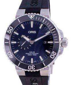 Oris Aquis Small Second Date Automatic Diver's 01-743-7733-4135-07-4-24-64EB 500M Men's Watch