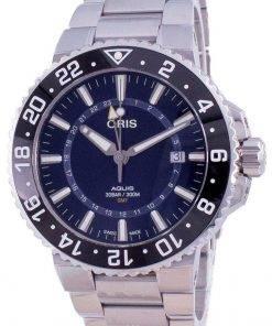 Oris Aquis GMT Date Automatic Diver's 01-798-7754-4135-07-8-24-05PEB 300M Men's Watch