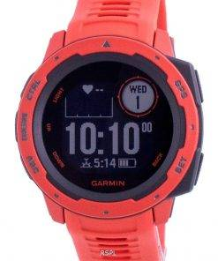 Garmin Instict Flame Red Outdoor Fitness GPS With Red Band 010-02064-02 Multisport Watch
