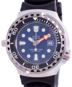 Ratio 2nd Generation Free Diver Helium-Safe Quartz 1038EF102V-BLU-V02 1000M Men's Watch