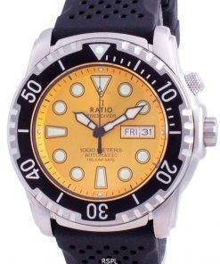 Ratio 2nd Generation Free Diver Helium-Safe Automatic 1068HA90-34VA-YLW-V02 1000M Men's Watch