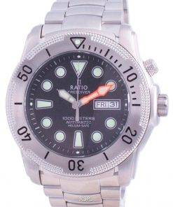 Ratio Free Diver Helium-Safe Automatic 1068MD96-34VA-BLK 1000M Men's Watch