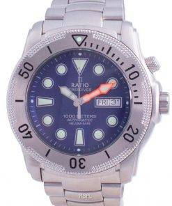 Ratio Free Diver Helium-Safe Automatic 1068MD96-34VA-BLU 1000M Men's Watch