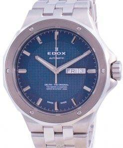 Edox Delfin Day Date Automatic 880053MBUIN 88005 3M BUIN 200M Men's Watch