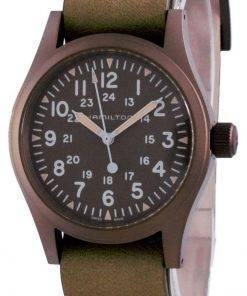 Hamilton Khaki Field Brown Dial Mechanical H69449861 Mens Watch