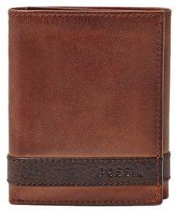 Fossil Quinn Trifold Brown ML3645200 Mens Wallet