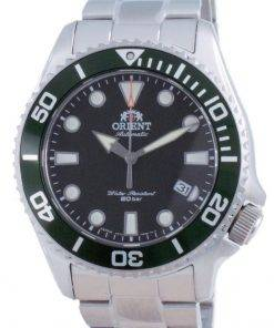 Orient Green Dial Stainless Steel Automatic Diver's RA-AC0K02E00C 200M Men's Watch