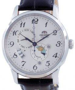 Orient Classic Sun and Moon White Dial Automatic RA-AK0003S00C Men's Watch