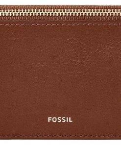 Fossil Logan Brown Zip Closure SL7925200 Womens Card Case