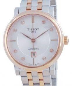 Tissot T-Classic Carson Automatic Diamond Accents T122.207.22.036.00 T1222072203600 Womens Watch