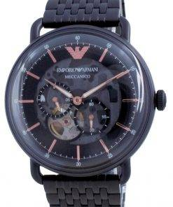 Emporio Armani Aviator Black Dial Stainless Steel Automatic AR60025 Mens Watch