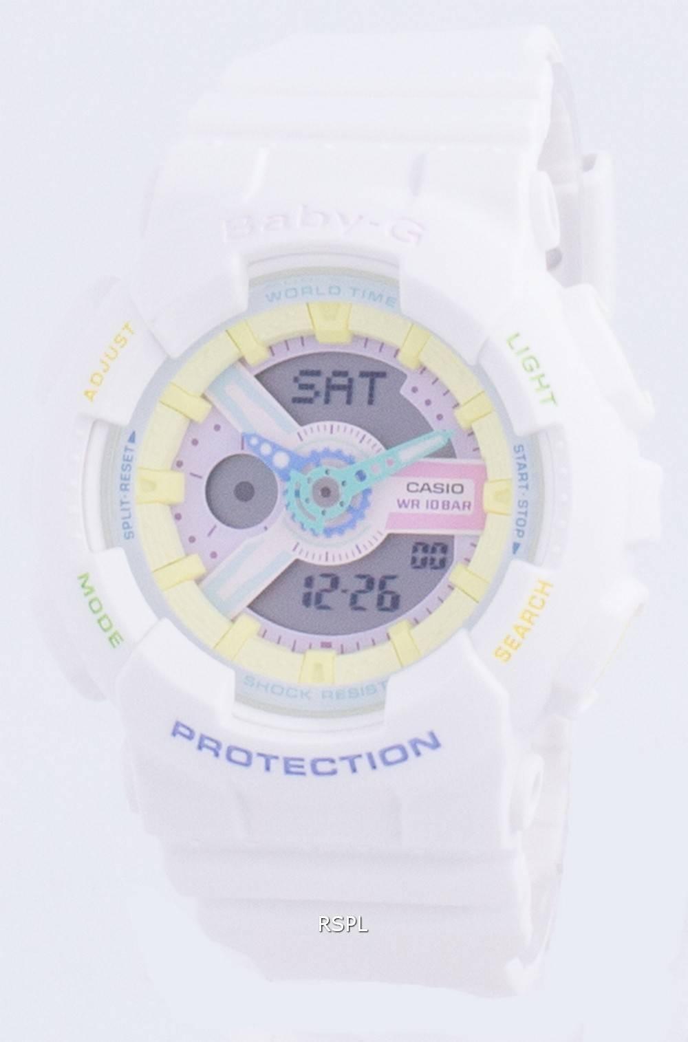 Casio Baby-G Analog Digital Quartz BA-110TM-7A 100M Womens Watch