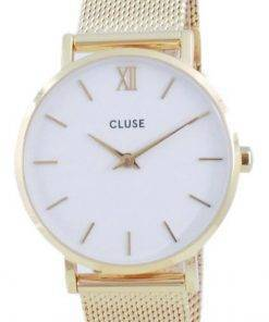 Cluse Minuit White Dial Gold Tone Stainless Steel Quartz CW0101203007 Womens Watch