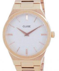 Cluse Vigoureux H-Link White Dial Rose Gold Tone Stainless Steel Quartz CW0101210001 Womens Watch