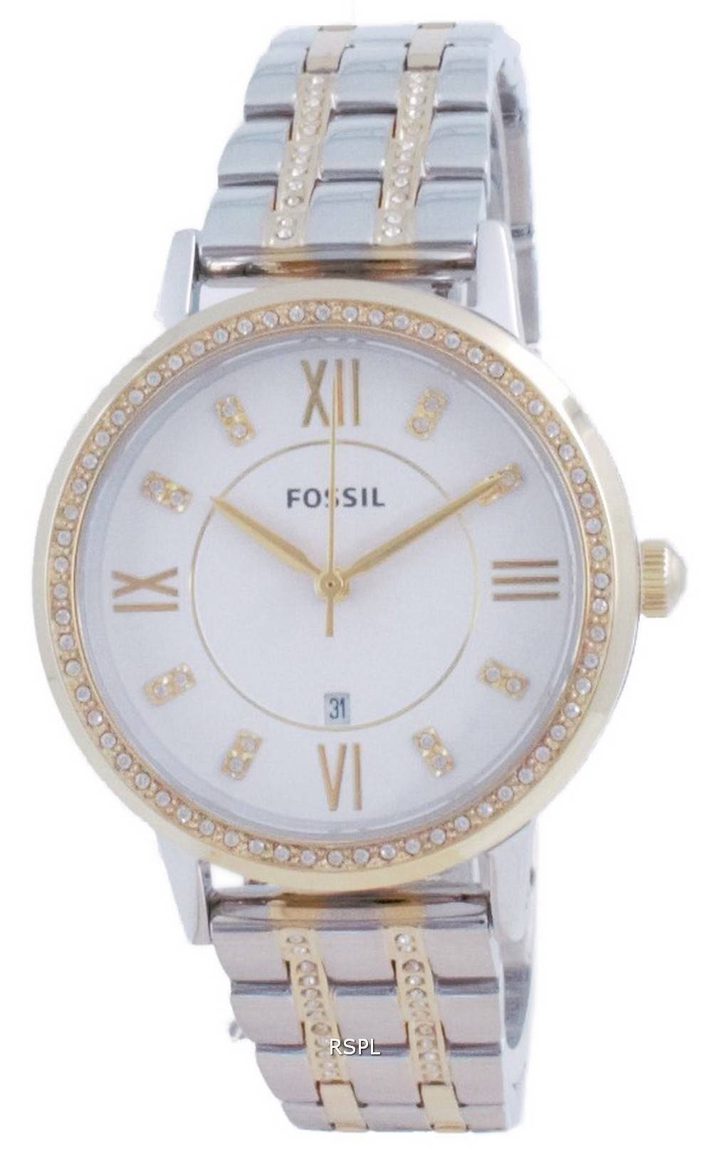 Fossil Gwen Silver Dial Daimond Accents Quartz ES4881 Womens Watch