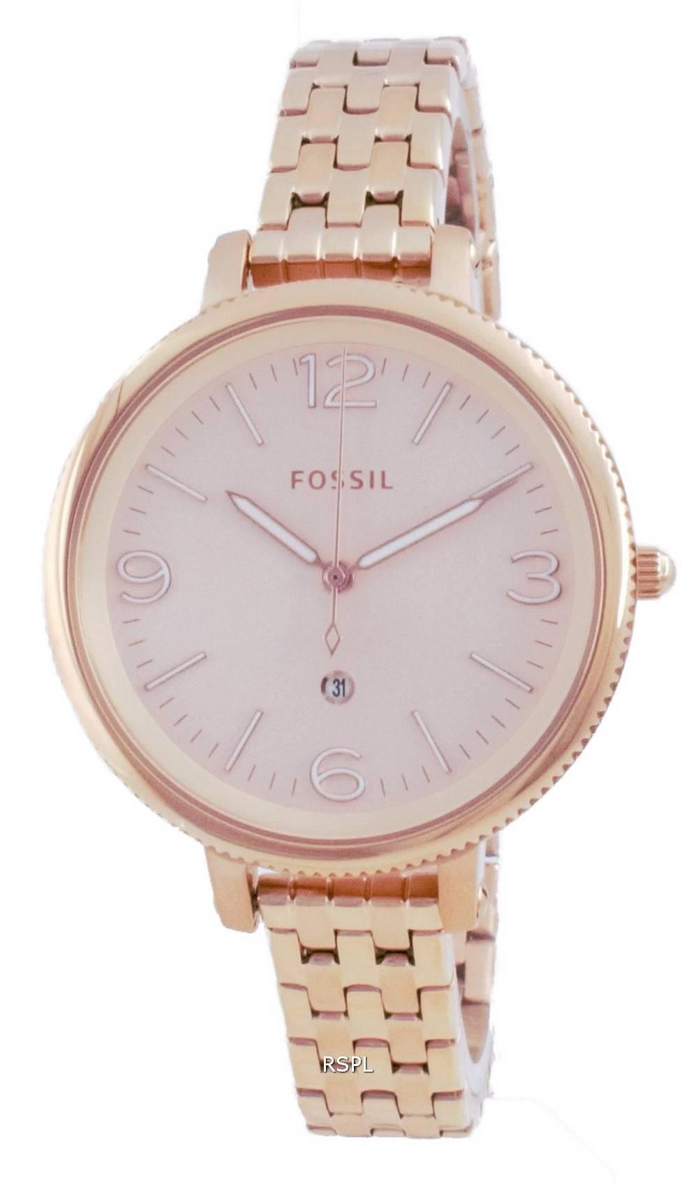 Fossil Monroe Rose Gold Stainless Steel Quartz ES4946 Womens Watch