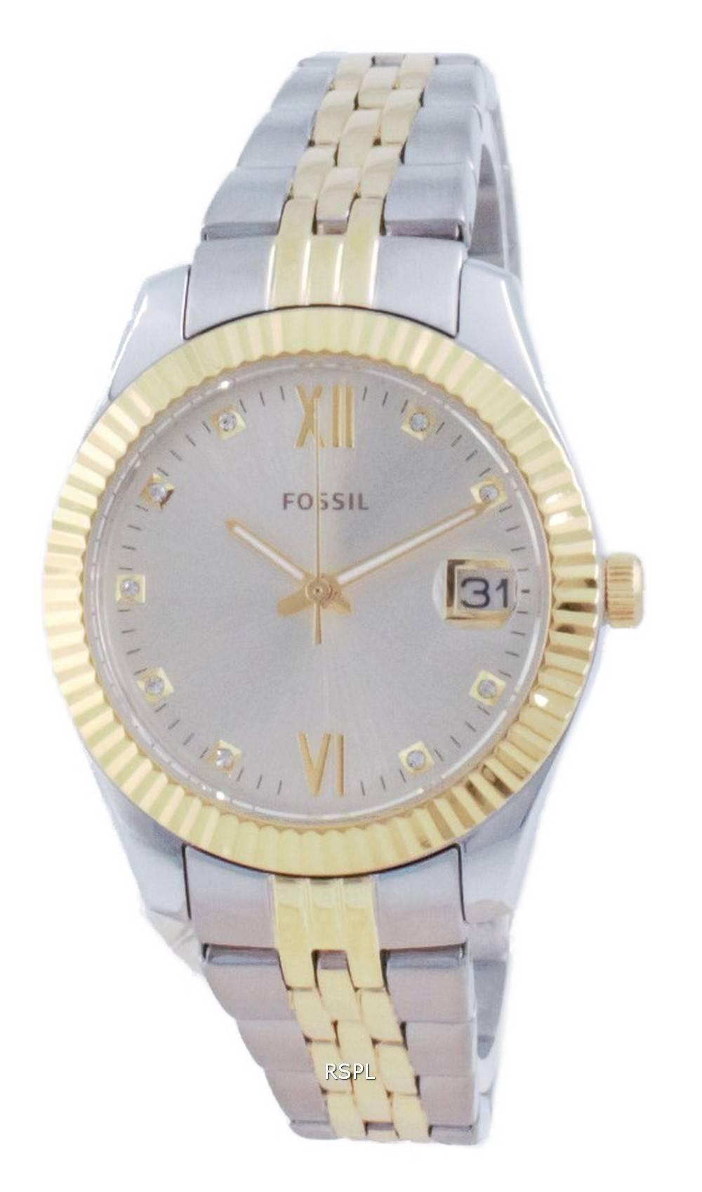 Fossil Scarlette Mini Diamond Accents Quartz ES4949 Womens Watch
