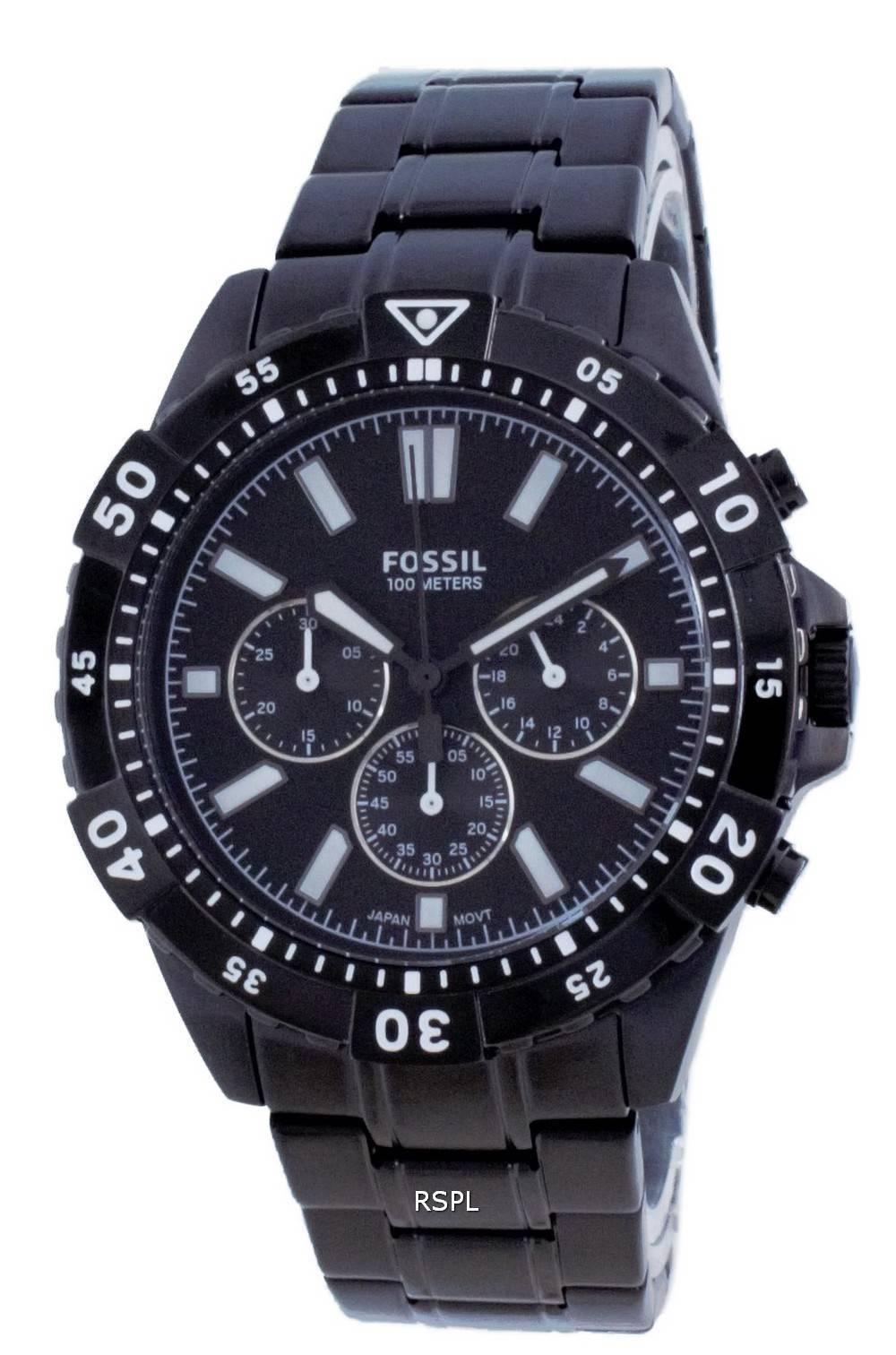 Fossil Garrett Stainless Steel Chronograph Quartz FS5773 100M Mens Watch