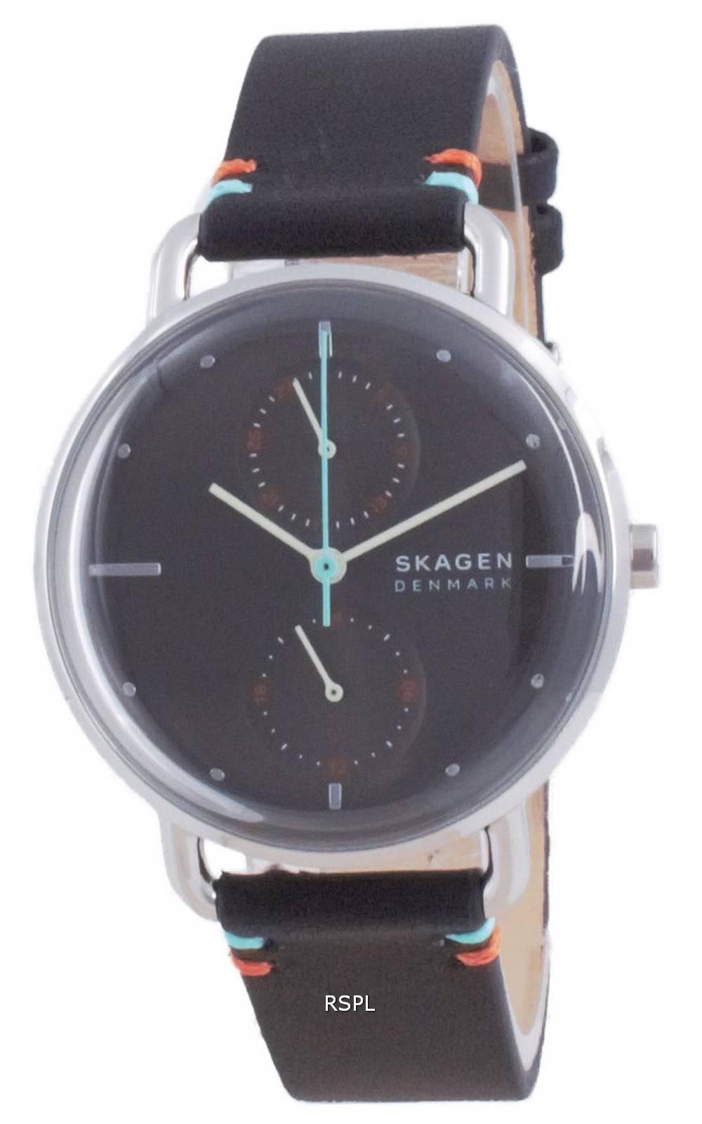 Skagen Horizont Grey Dial Leather Quartz SKW2930 Womens Watch