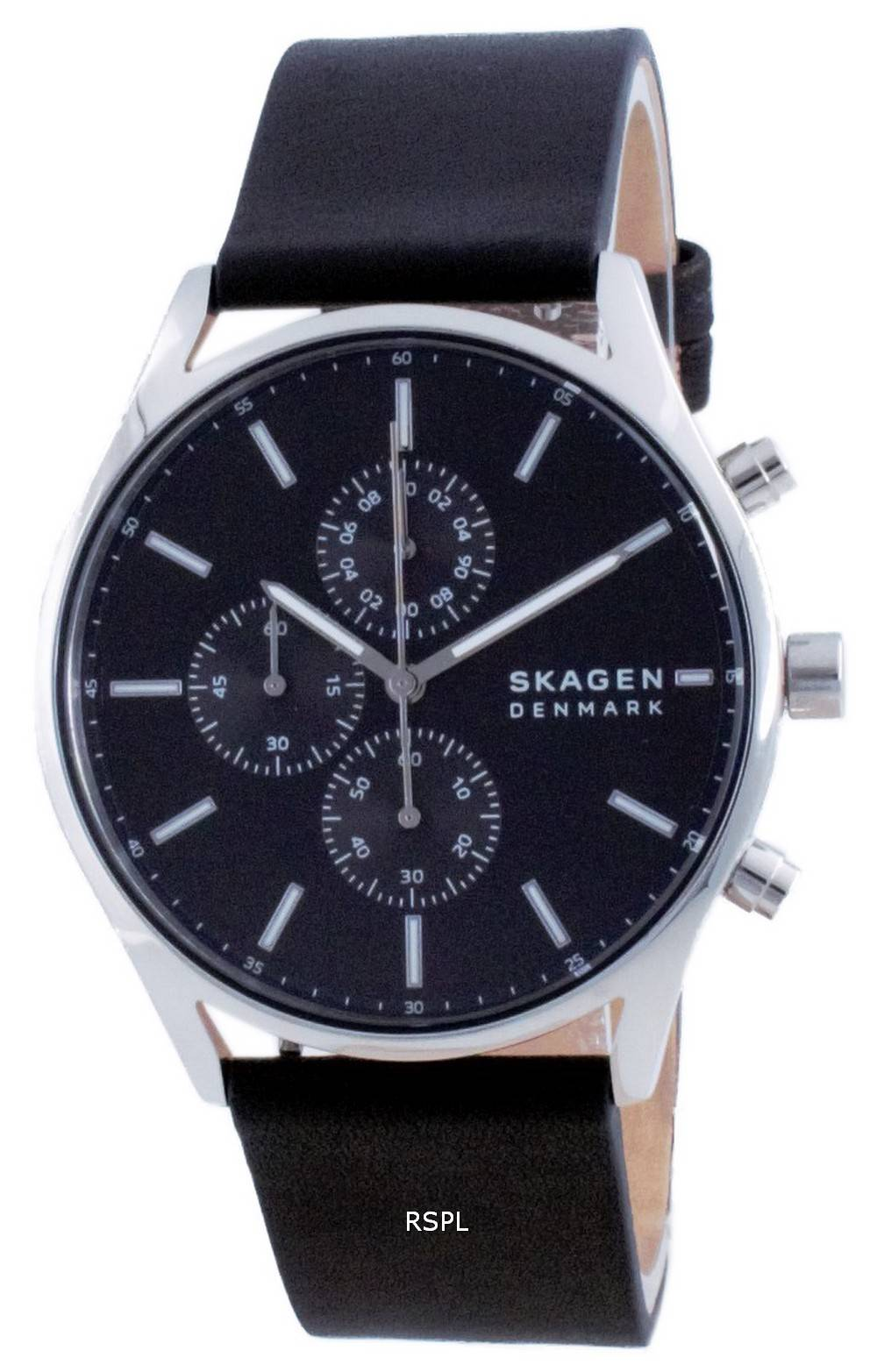 Skagen Holst Chronograph Leather Quartz SKW6677 Mens Watch
