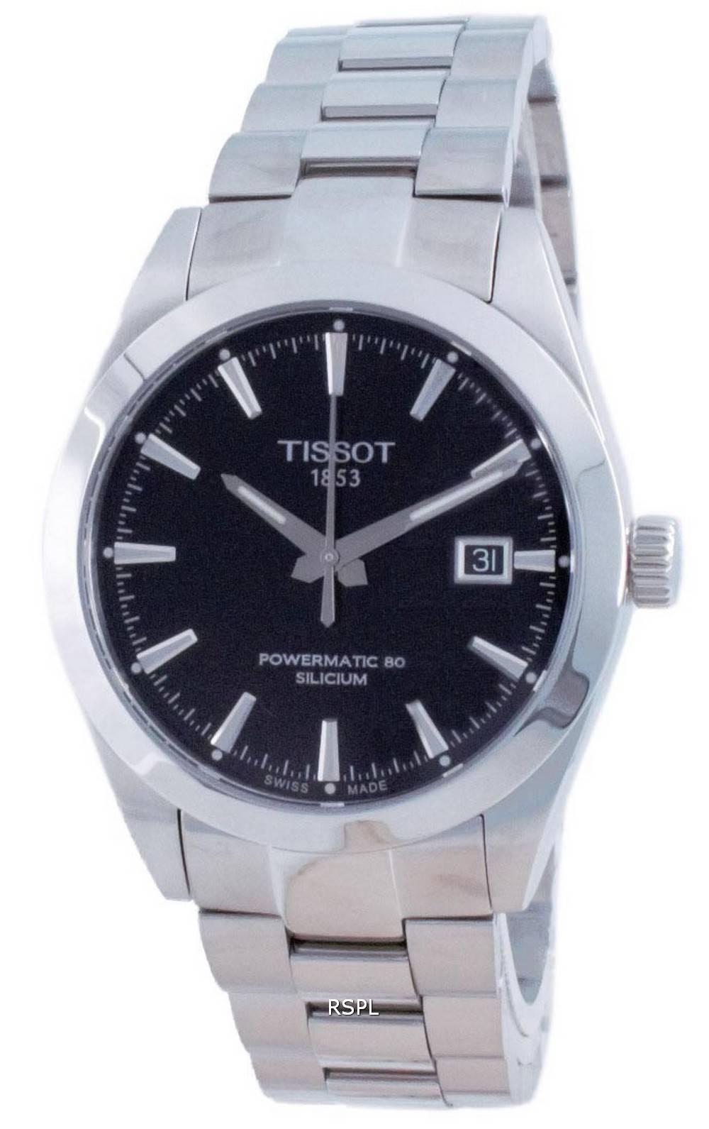 Tissot T-Classic Gentleman Powermatic 80 Silicium Automatic T127.407.11.051.00 T1274071105100 100M Men's Watch