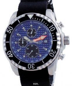 Ratio Free Diver Chronograph Nylon Quartz Diver's 48HA90-17-CHR-BLU-var-NATO4 200M Men's Watch