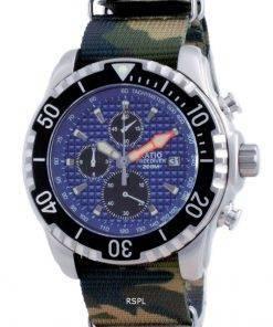 Ratio Free Diver Chronograph Nylon Quartz Diver's 48HA90-17-CHR-BLU-var-NATO5 200M Men's Watch