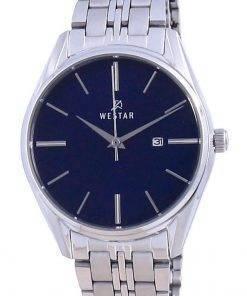 Westar Blue Dial Stainless Steel Quartz 40210 STN 104 Women's Watch