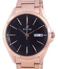 Westar Black Dial Rose Gold Tone Stainless Steel Quartz 40212 PPN 603 Women's Watch